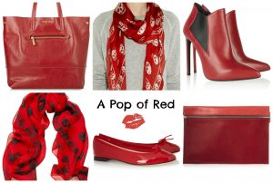 red-collage