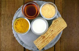 Wheat flour face pack for tired skin