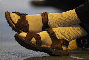 Pairing sandals with socks