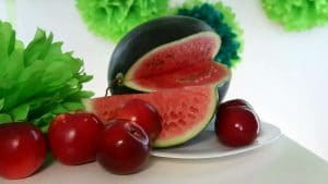 apple and watermelon